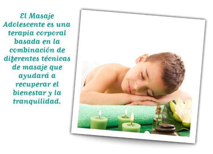 adolescente masaje corporal